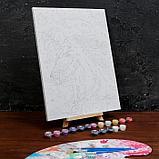 Картина по номерам на холсте с подрамником «Ночной единорог» 30×40 см, фото 3