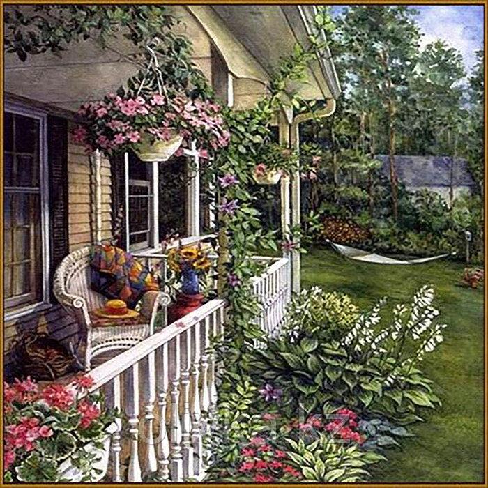 Алмазная мозаика «Летний сад», 35 цветов