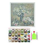 Алмазная мозаика «Вазы с цветами» 40-40см, 40 цветов, фото 2