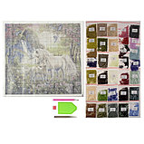 Алмазная мозаика «Единороги», 50 × 50 см, 35 цветов, фото 2