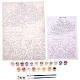 Роспись по холсту «Древо жизни» по номерам с красками по3 мл+ кисти+инструкция+крепёж, 30 × 40 см, фото 3