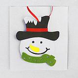 Набор для творчества - создай ёлочное украшение из фетра «Милый снеговичок», фото 3