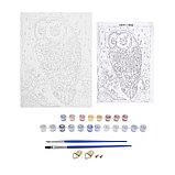 Роспись по холсту «Сова» по номерам с красками по 3 мл+ кисти+инструкция+крепёж, 30 × 40 см, фото 4