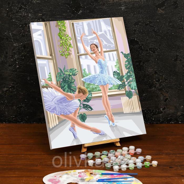Картина по номерам на холсте с подрамником «Балерины» 40×50 см
