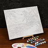 Картина по номерам на холсте с подрамником «Дикий пляж» 40×50 см, фото 3