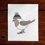Новогоднее ёлочное украшение под раскраску «Птичка» + краски 6 цв по 3 г, 2 кисти, фото 2