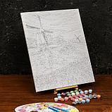 Картина по номерам на холсте с подрамником «Ветряная мельница» 40×50 см, фото 3