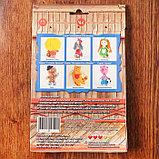 """Набор для изготовления игрушки из льна и хлопка с волосами из пряжи """"Домовёнок"""", 15,5 см, фото 4"""