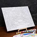Картина по номерам на холсте с подрамником «Осенний мост» 40×50 см, фото 3