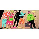 Картон цветной, Двусторонний: текстурный/гладкий, 210 х 297 мм, Sadipal Fabriano Elle Erre, 220 г/м, оранж т, фото 4