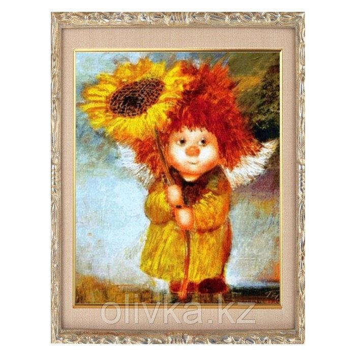 Алмазная мозаика «Ангел с подсолнухом» 20 × 28 см, 24 цвета