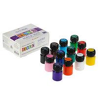 Набор акриловых красок Decola, 12 цветов, 20 мл, матовые