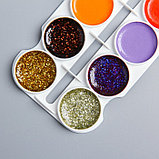 Акварель 20 цветов + 4 цвета с блёстками, «Смешарики», карамельная, без кисти, фото 3