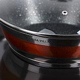 Набор посуды «Сан», 4 предмета: кастрюли 5,1/3,2 л, ковш 1,6 л, сотейник с антипригарным покрытием 3,4 л, фото 2