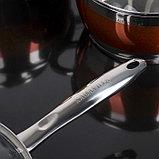 Набор посуды «Сан», 4 предмета: кастрюли 5,1/3,2 л, ковш 1,6 л, сотейник с антипригарным покрытием 3,4 л, фото 4