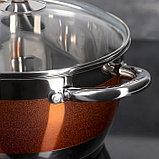 Набор посуды «Сан», 4 предмета: кастрюли 5,1/3,2 л, ковш 1,6 л, сотейник с антипригарным покрытием 3,4 л, фото 5