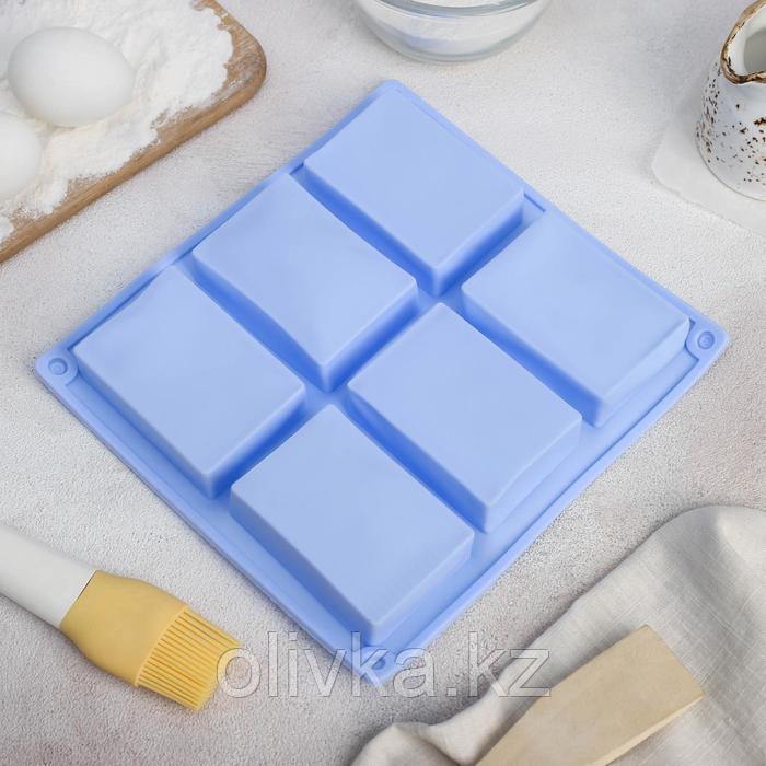 Форма для выпечки Доляна «Прямоугольник», 23,5×21,5 см, 6 ячеек (5,8×8,2 см), цвет МИКС