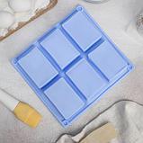 Форма для выпечки Доляна «Прямоугольник», 23,5×21,5 см, 6 ячеек (5,8×8,2 см), цвет МИКС, фото 2