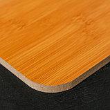 Доска разделочная «Цинза», 34×23,5 см, толщина 0,8 см, бамбук, фото 2