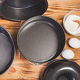 Форма для выпечки разъёмная Доляна «Элин. Круг», d=28 см, антипригарное покрытие, фото 8