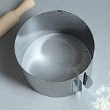"""Форма для выпечки и выкладки с регулировкой размера """"Круг"""", H-10 см, D-16-30 см, фото 2"""