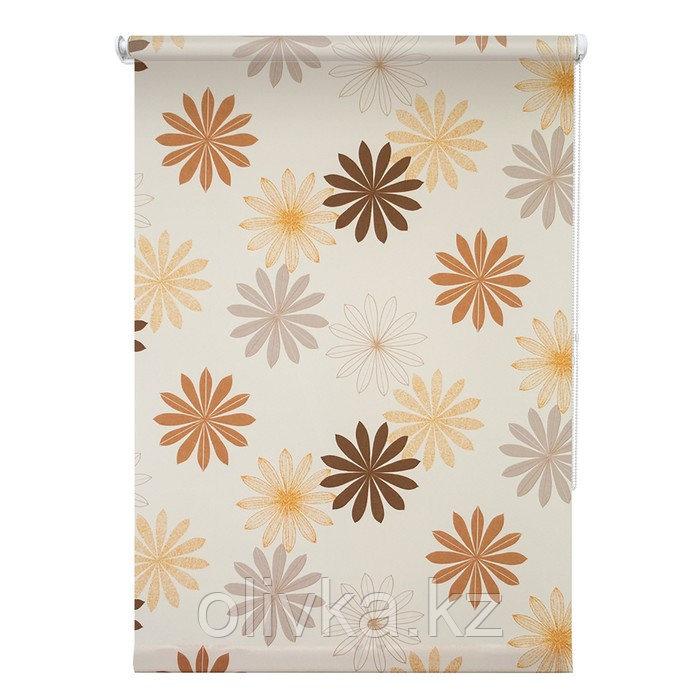Рулонная штора «Космея», 40 х 175 см, цвет кремовый