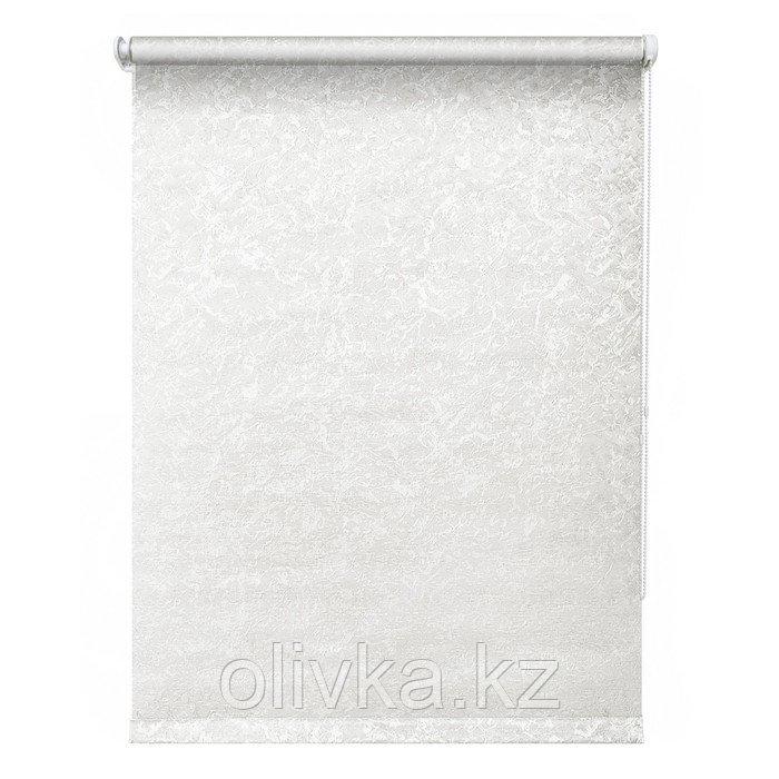 Рулонная штора «Фрост», 40 х 175 см, цвет белый
