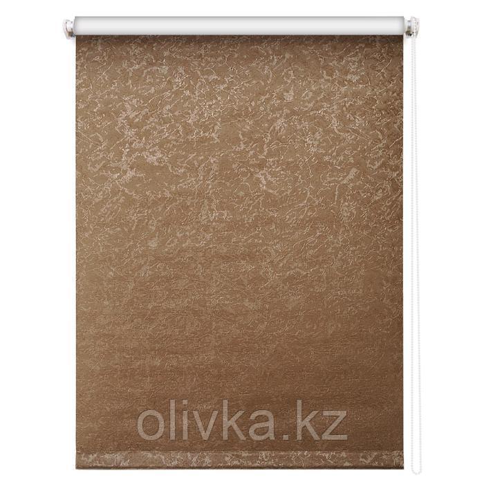 Рулонная штора блэкаут «Фрост», 48 х 175 см, цвет коричневый