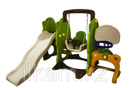 Детская площадка горка+качеля+кольцо, фото 2