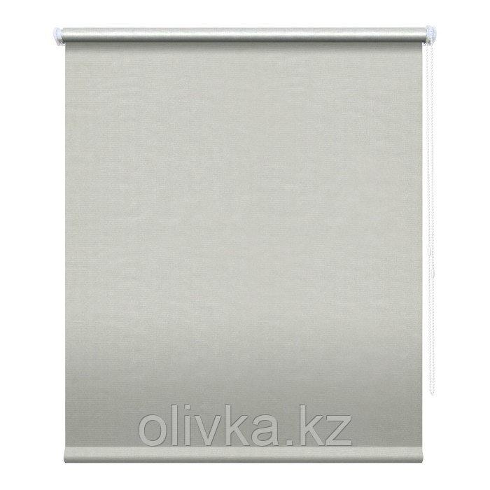 Рулонная штора «Сильвер», 200 х 175 см, блэкаут, цвет светло-серый