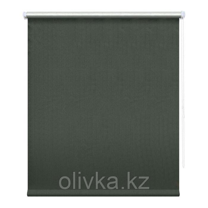 Рулонная штора блэкаут «Сильвер», 200 х 175 см, цвет графит