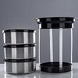 """Термос для еды """"Экспресс"""" 1с2391, с широким горлом, 1.5 л (3 секции × 0.5 л), 74 °С, 6 ч, фото 4"""