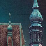 Комплект штор Разноцветные домики, 147х267 +/- 3см 2шт, габардин, п/э100%, фото 2