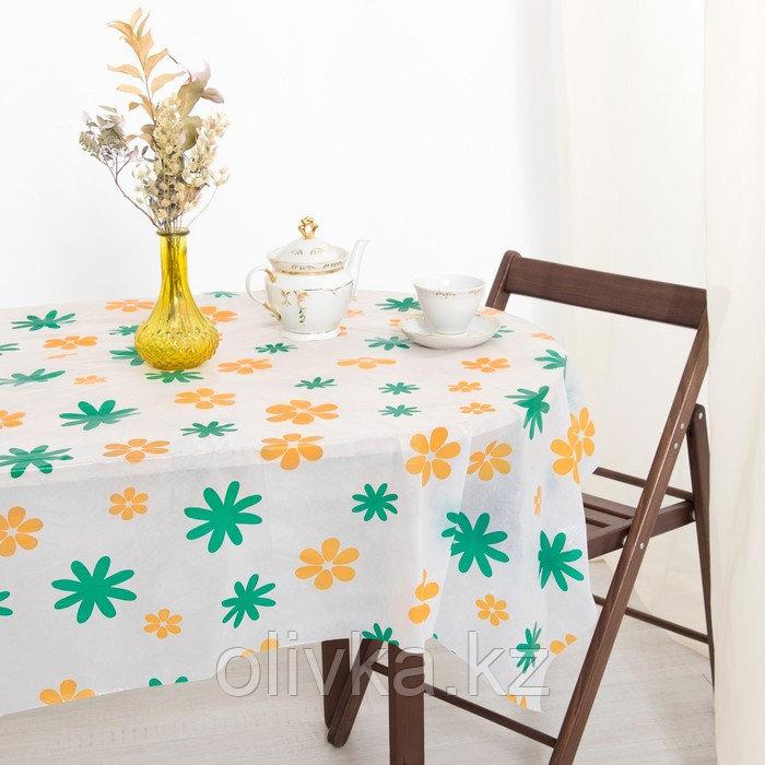 Скатерть для дачи Хозяюшка Цветы 140×180 см