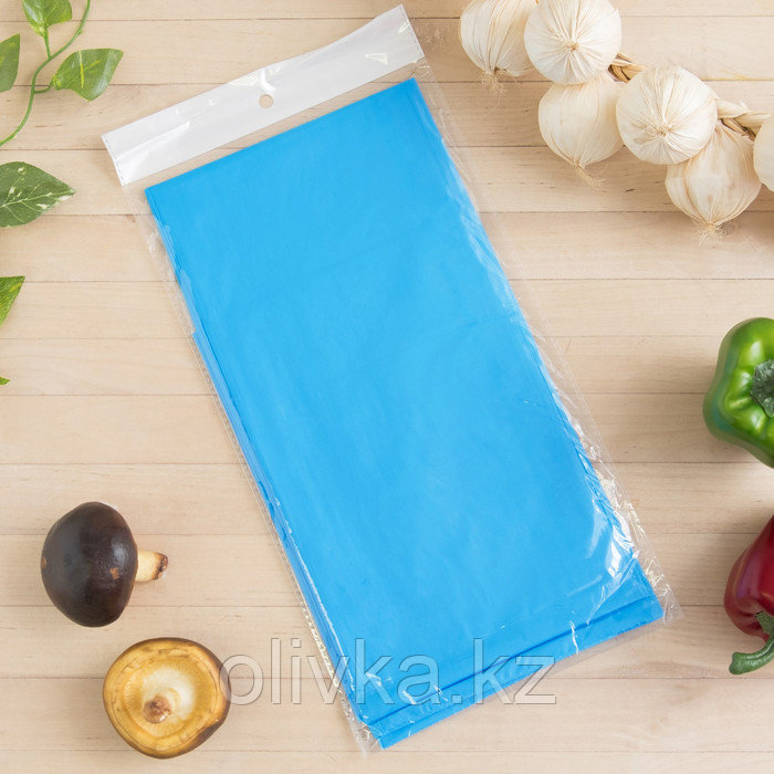 Скатерть для дачи Хозяюшка Радуга, цвет синий 137×183 см