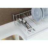 Сушилка для посуды с поддоном, 40×23×15 см, цвет хром, фото 6