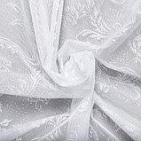 Тюль со шторной лентой 250х200см, белый 3, пэ 100%, фото 4