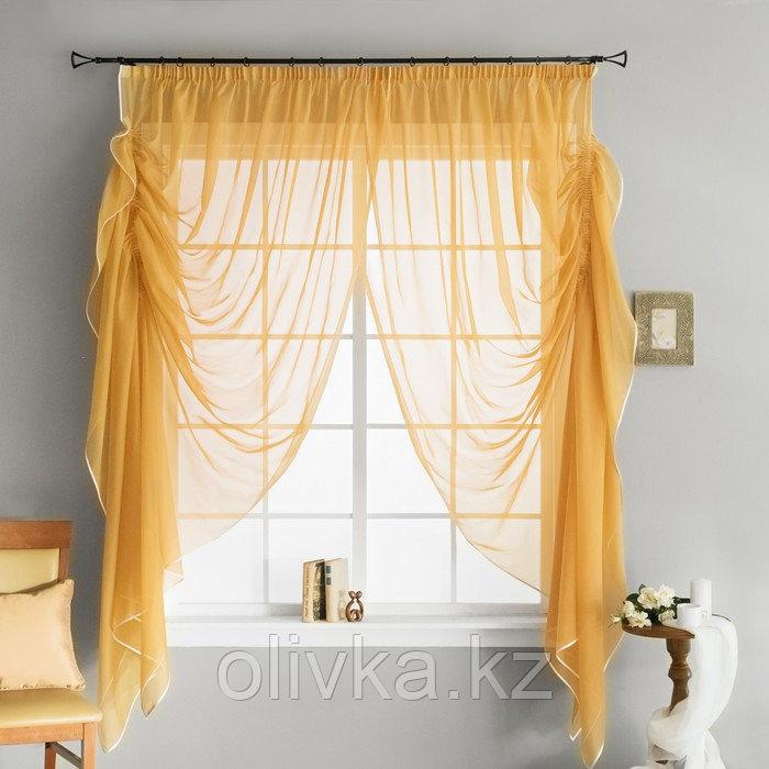 Портьера «Трэйси», размер 400 х 270 см - 1 шт., цвет золотой