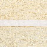 Комплект штор портьерных «Тергалет», 140х260см- 2 шт, цвет молочный, п/э, фото 3