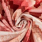 Штора портьерная Этель «Памир» 170х270 см, цвет розовый, 100% полиэстер, блэкаут, фото 4