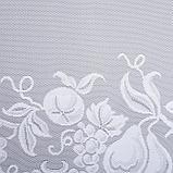 Штора без шторной ленты м494 80х175 см, белый, п/э 100%, фото 2
