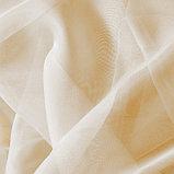 Штора вуаль однотонная 140х145 см, цвет молочный, фото 2