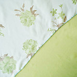 Комплект штор для кухни «Марианна», размер 300х160 см, цвет зелёный, фото 2