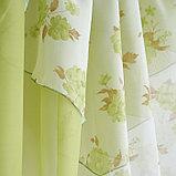 Комплект штор для кухни «Марианна», размер 300х160 см, цвет зелёный, фото 4