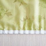 Комплект штор для кухни «Марианна», размер 300х160 см, цвет зелёный, фото 6