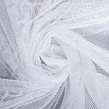 Штора на шторной ленте Т833 155х270 см, белый, п/э 100%, фото 4