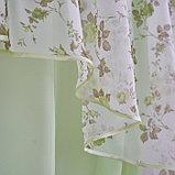 Комплект штор для кухни Византия 280х160 см, цв. св.зеленый правая, пэ 100%, фото 2
