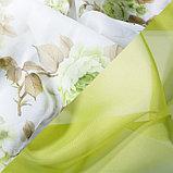 Комплект штор для кухни Цветы 280х160 см, зеленый, пэ 100%, фото 2