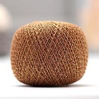 Нитки вязальные 'Золотой шар' 390м/50гр 86 хлопок, 14 люрекс цвет 3203 (комплект из 6 шт.)