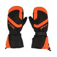 Зимние рукавицы БОБЕР чёрный, оранжевый, XXL